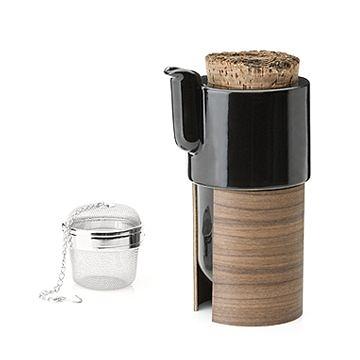 芬蘭 Tonfisk Tea / Coffee Pot 0.6L, Warm 系列 軟木 黑色 咖啡壺 / 茶壺