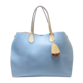 Dior 迪奧 天空藍拚膚色牛皮手提肩背兩用包 【二手名牌 BRAND OFF】