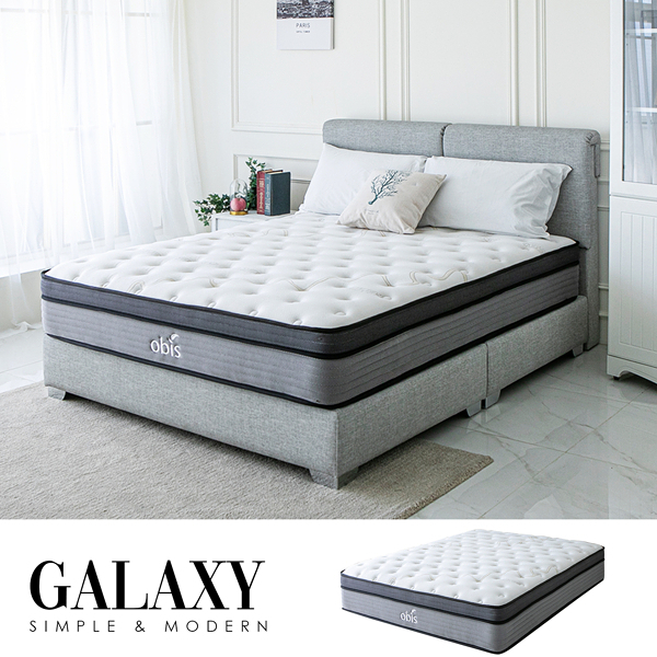 GALAXY銀離子系列無毒乳膠獨立筒床墊[單人3.5×6.2尺]【obis】
