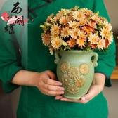 歐式仿真花束玫瑰絹花套裝擺件客廳餐桌塑料假花干花盆栽擺設花藝