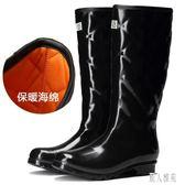 女士加棉雨鞋冬季保暖雨靴歐美時尚套鞋成人高筒水鞋防滑防水膠鞋 DJ5687『麗人雅苑』