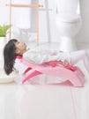 兒童洗頭椅 加厚兒童洗頭躺椅可折疊嬰兒神器寶寶家用大號小孩躺著洗發床凳子 MKS 卡洛琳