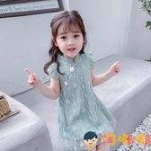 女童連身裙夏季兒童旗袍蕾絲中國風公主裙子【淘嘟嘟】