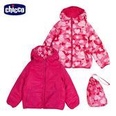 chicco-迷彩科技棉雙面連帽外套-粉