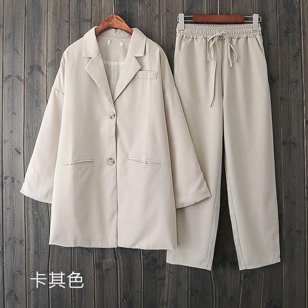 俐落風格 寬鬆版西裝外套-大尺碼 獨具衣格