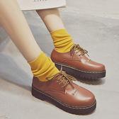 棉鞋冬季加絨小皮鞋女新款保暖加絨韓版學生百搭原宿英倫女鞋