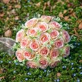 新娘手捧花森系仿真紅玫瑰花結婚高檔手捧花攝影拍照道具永生花束 幸福第一站