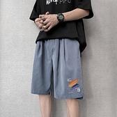 七分褲 短褲男夏季潮牌潮流ins港風中褲薄款韓版寬鬆馬褲休閒外穿五分褲 非凡小鋪