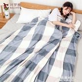 春夏加厚珊瑚絨毯子法蘭絨單雙人小毛毯被子床單空調午睡沙發蓋毯【果果新品】