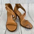 BRAND楓月 CHLOE蔻依 棕色 寬帶 露趾 高跟鞋 涼鞋 皮革 編織鞋 女鞋