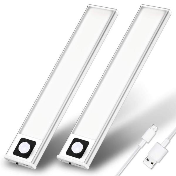 爆款充電智慧櫥柜燈led感應燈長條衣柜人體感應小夜燈【快速出貨】