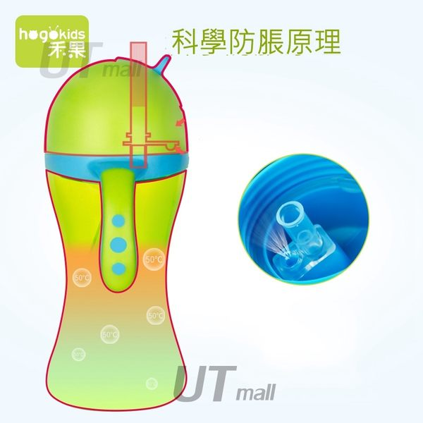 多彩吸管杯環保材質兒童水壺防嗆可攜式伸縮吸管嬰兒奶瓶#562