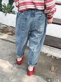 女童新款兒童休閒褲寶寶長褲子潮男寬鬆牛仔 錢夫人小鋪