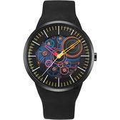 odm Lapped 系列齒輪設計手錶-黑/43mm DD157-05