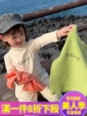 女童T恤女童打底衫冬裝新款韓版洋氣小女孩加厚高領t恤長袖兒童上衣-『美人季』
