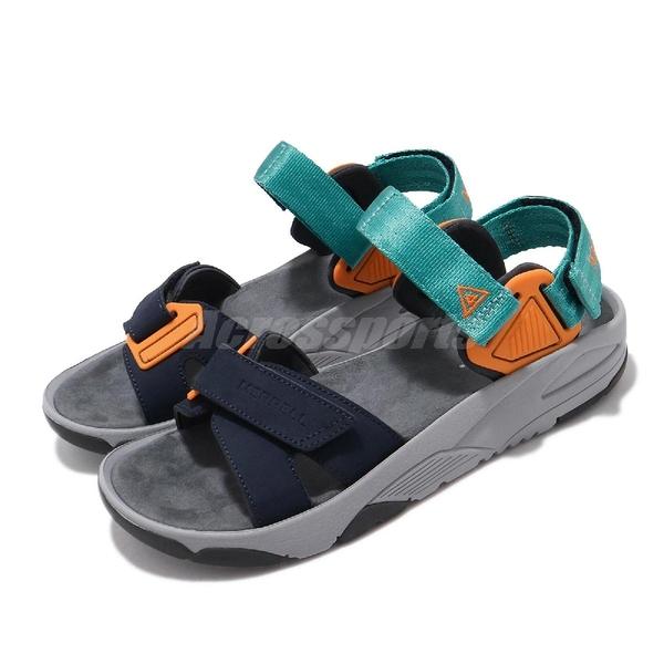 Merrell 涼拖鞋Belize Convert Web 藍 綠 男鞋 休閒鞋 魔鬼氈 涼鞋 【PUMP306】 ML06215