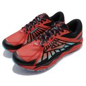 Brooks 越野慢跑鞋 Caldera 紅 黑 火山口系列 透氣網布 戶外專用 男鞋【PUMP306】 1102421D676