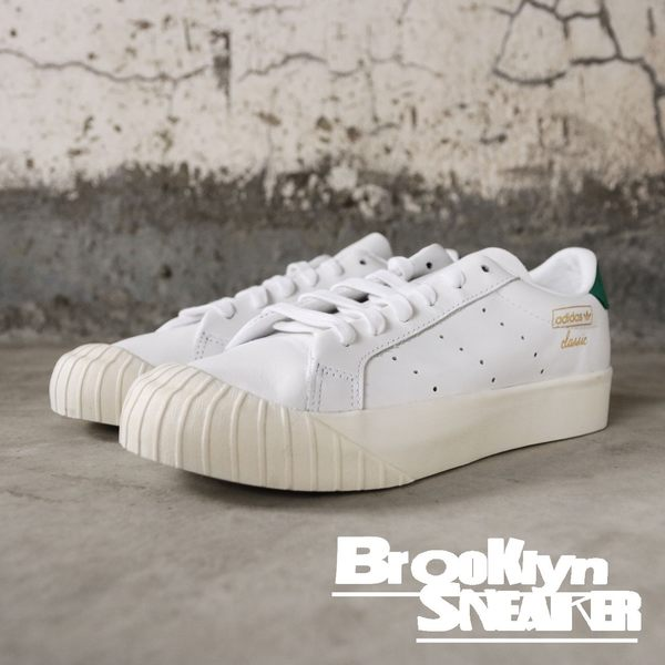 Adidas originals Everyn 白綠 皮革 復古奶油底 餅乾鞋 厚底 休閒鞋  女 (布魯克林) 2019/1月 CG6076