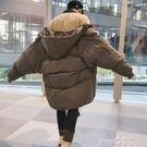 棉衣男中長款外套韓版潮流冬季寬鬆棉襖2020新款潮ins港風棉服 pinkQ 時尚女裝