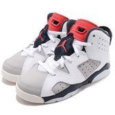 Nike Air Jordan 6 Retro PS Tinker 白 紅 籃球鞋 AJ6 童鞋 中童鞋 喬丹 6代 運動鞋【PUMP306】 384666-104