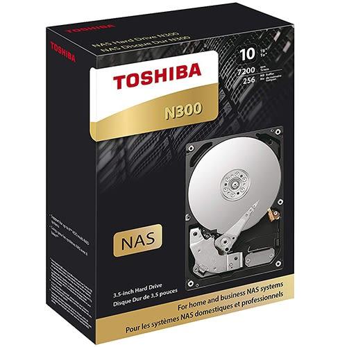 Toshiba N300 10TB 3.5吋 NAS硬碟 HDWG11AAZSTA