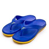 LIKA夢 GOODYEAR 固特異 防水輕量彈力休閒運動夾腳拖鞋 乘風踏浪系列 寶藍黃 93766 男
