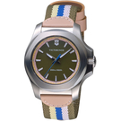 VICTORINOX SWISS ARMY瑞士維氏I.N.O.X.V前衛個性腕錶 VISA-241809 條紋帆布