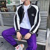 韓版學生風ulzzang棒球外套 黑《P0127》