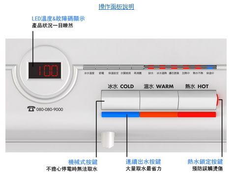 union 賀眾牌 UW-672AW-1智能型微電腦桌上飲水機冰溫熱