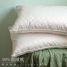 《好評熱銷》-麗塔LITA- 【優質精選羽絨枕心(1入)】- (1.3公斤立體花邊 羽絨:羽毛=50:50)