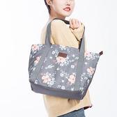◄ 生活家精品 ►【X12】可愛印花肩背手提包 收納包 大容量 旅行袋 收納袋 購物袋 出國 旅遊 購物