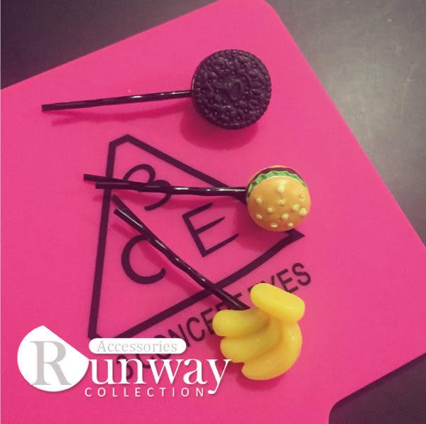【R】日本軟妹吃貨軟萌模擬蛋糕荷包蛋髮夾邊夾波浪夾一字夾髮飾