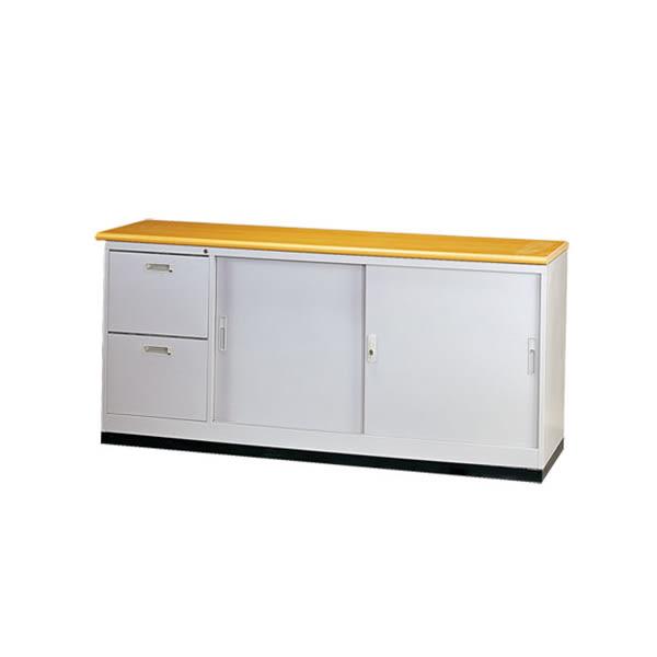 【YUDA】JSA176W2S二抽二門六尺隔間櫃/鐵櫃(含腳座木紋面板) 文件櫃/展示櫃/公文櫃