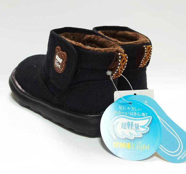小童 日本 IFME  超輕LIGHT 寶寶機能雪靴《7+1童鞋》B444黑色