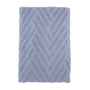 HOLA 葡萄牙純棉浴巾 斜角藍70x140cm