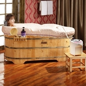 木質浴桶木桶浴桶成人浴盆家用泡澡桶全身實木浴缸大人洗澡桶衛生間【免運】