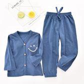 兒童睡衣 女童夏季套裝薄款純棉寶寶衣服男童空調服小孩家居服 莎瓦迪卡