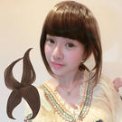 瀏海假髮片。可愛妹妹頭/耐熱纖維頭頂式-平瀏海【DH08】雙兒網