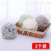3個70克大號成人洗澡沐浴球浴花日本泡泡球搓背澡巾泡沫洗浴球color shop