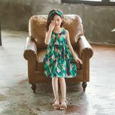 大女童連衣裙夏裝正韓童裝兒童夏季洋氣小女孩裙子背心裙 森雅誠品