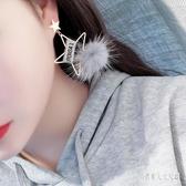 百搭愛星星五角星時尚毛球字母綢帶耳釘耳環無耳洞耳夾 yu5579『俏美人大尺碼』