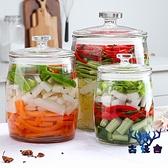 密封罐玻璃瓶腌菜缸家用帶蓋腌制咸菜玻璃缸加厚【古怪舍】
