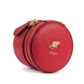 COACH 鼠年限定防刮皮革圓型珠寶盒(紅色)194247