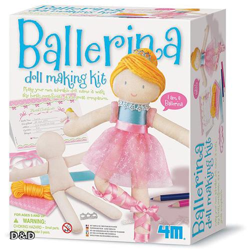 《4M美勞創作》手作娃娃-芭蕾舞者 Doll Making Kit / Ballerina ╭★ JOYBUS玩具百貨