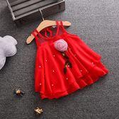 連身裙女童無袖洋裝公主裙夏裝嬰幼兒童裝0-1-2-34歲半女寶寶吊帶裙子限時7折起,最後一天