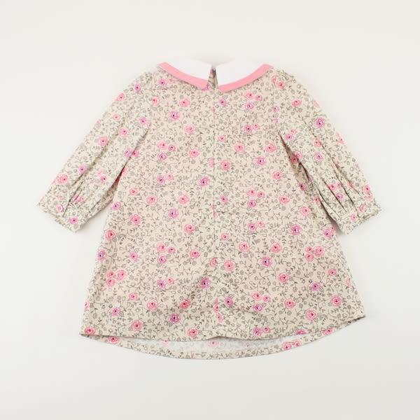 【愛的世界】玫瑰內刷毛洋裝/4~10歲 -中國製- ★秋冬洋裝套裝