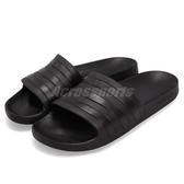 adidas 拖鞋 Adilette Aqua 黑 全黑 運動拖鞋 男鞋 女鞋 防水 涼拖鞋 舒適好穿【PUMP306】 F35550