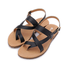 RIN RIN 夾腳平底涼鞋 黑 女鞋