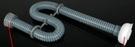 【麗室衛浴】國產F-016-3A  外銷PVC灰色塑料有螺紋式落水頭軟管  防止臭氣上來易清潔