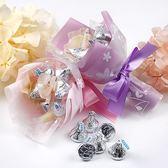 幸福婚禮小物❤KISS巧克力迷你喜糖捧花❤小禮物/姊妹禮/小花童/生日禮物/金莎/巧克力